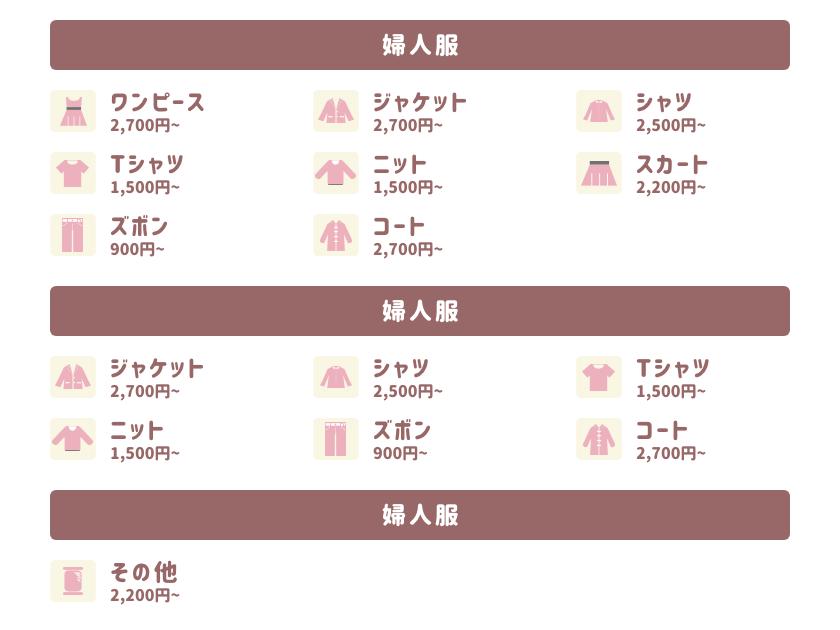 洋服リフォームの価格表【私のお針箱】